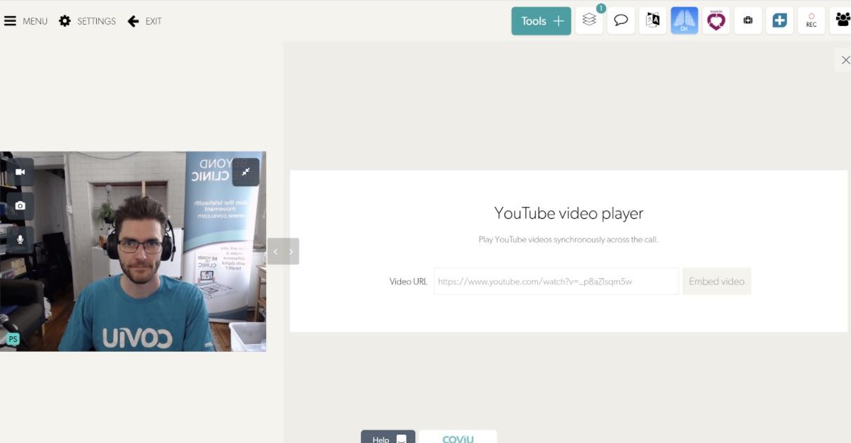 Coviu Youtube Plugin